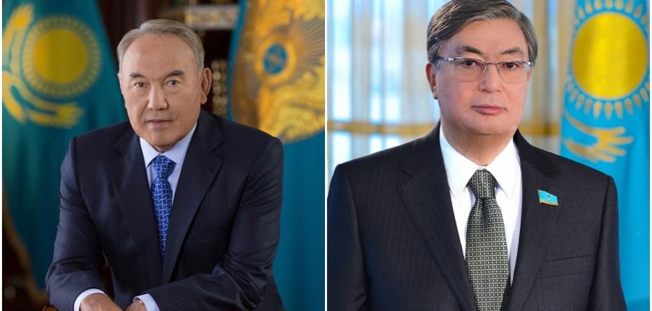 Nursultan Nazarbayev y Kasym-Zhomart Tokayev