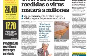 Sin medidas el COVID-19 matara a millones